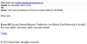 Så ser ett falskat e-postmeddelande ut bild 1