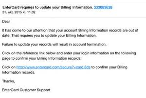 Så ser ett falskat e-postmeddelande ut bild 2